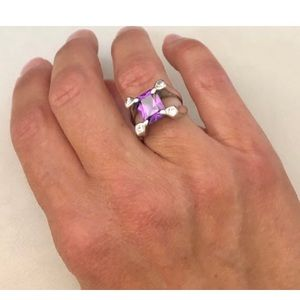 Vtge Amethyst 925 Ring Size 6 (my own collection!)